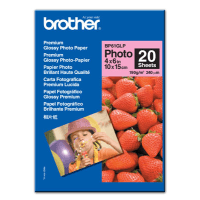 Brother BP61GLP Original 10x15 Premium Glossy Photo Paper 190g x20