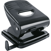Cartridge Shop Office Black Metal 2 Hole Punch - 20 Sheet Capacity