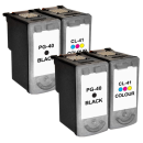 Canon PG-40/CL-41 Compatible Black & Colour 4 Ink Cartridge Pack *Special Deal*