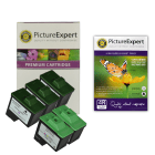 Lexmark 16 / 10N0016 x 3 & 26 / 10N0026 x 2 Compatible Black & Colour Ink Cartridge 5 Pack + 50 Sheets of Photo Paper