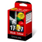 Lexmark 17/ 10N0217 & 27/ 10N0227 Original Moderate Use Black & Colour Ink Cartridge Pack