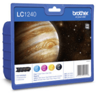 Brother LC1240 LC1240VALBP Original 4 Ink Cartridge Pack BK C M Y