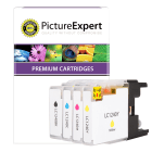 Brother LC1240 Compatible Black Colour 4 Ink Cartridge Pack