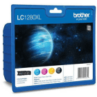 Brother LC1280XL LC1280XLVALBP Original 4 Ink Cartridge Pack BK C M Y