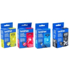 Brother LC900BK LC900C LC900M LC900Y Original Black Colour 4 Ink Cartridge Pack