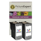Canon CL 38 Compatible Colour Ink Cartridge Twinpack
