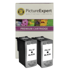 Canon PG 37 Compatible Black Ink Cartridge Twinpack