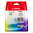 Canon PG 40 CL 41 0615B036AA Original Black Colour Ink Cartridge 2 Pack