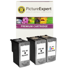Canon PG 40 CL 41 Compatible Black Colour Ink Cartridge 3 Pack Buy One Get One Half Price