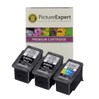 Canon PG 540XL x2 CL 541XL x1 Compatible High Capacity Black and Colour Ink Cartridge 3 Pack Special Deal