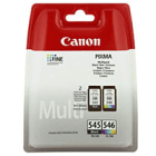 Canon PG 545 CL 546 Original Black Colour 2 Ink Cartridge Pack