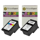 Canon PG 545XL CL 546XL Compatible High Capacity Black Colour Ink Cartridge 2 Pack
