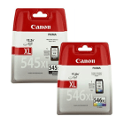 Canon PG 545XL CL 546XL Original High Capacity Black Colour Ink Cartridge 2 Pack