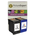 HP 21 C9351ae 22 C9352ae Compatible Black Colour Ink Cartridge Pack